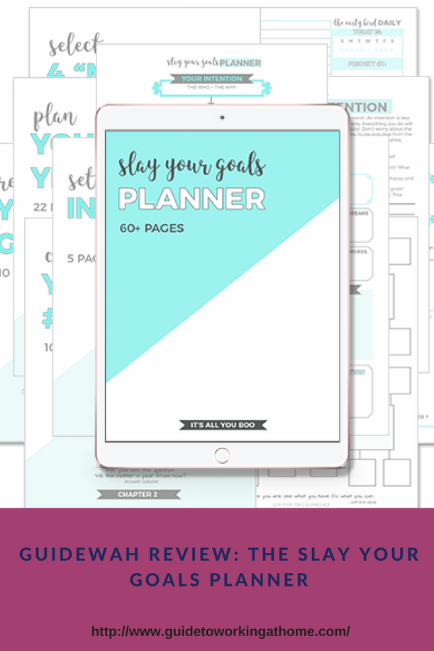 GuideWAH Review The Slay Your Goals Planner - Productivity planner review