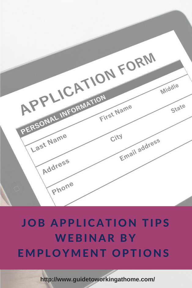 Job Application Tips Webinar By Employment Options
